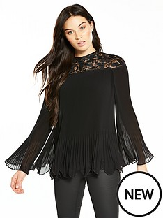 v-by-very-premium-lace-yolk-pleated-blouse
