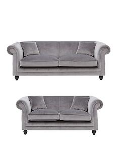 Ideal Home Grace 3 Seater 2 Fabric Sofa Set And Save