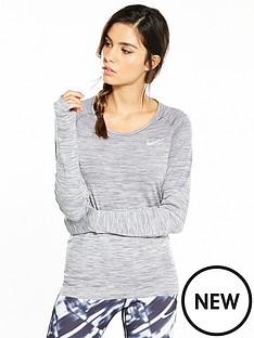 nike-running-dri-fit-knit-long-sleeve-top-grey-heathernbsp