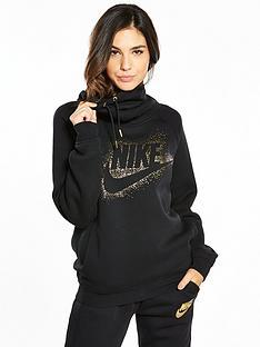 nike-sportswear-metallic-shine-rally-hoodie
