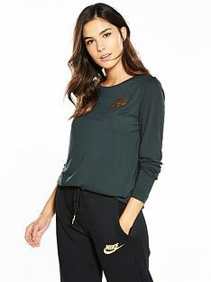 nike-sportswear-metallic-shine-essential-longsleeve-top
