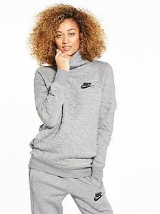nike-sportswear-quilted-funnel-overhead-hoodie-grey-heathernbsp