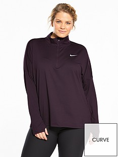 nike-running-dry-half-zip-element-top-plus-sizenbsp