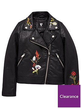 v-by-very-girls-embroidered-pu-biker-black