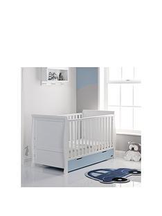 obaby-stamford-cot-bed-white-amp-bon-bon-blue