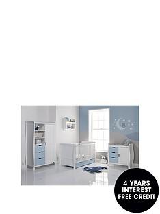 obaby-stamford-3-piece-furniture-set-white-amp-bon-bon-blue
