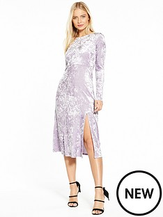 miss-selfridge-nbspvelvet-midi-dress