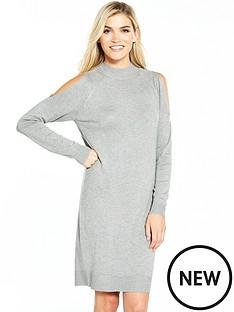 miss-selfridge-lightweight-knitted-cross-back-dress