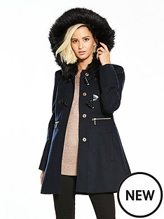 miss-selfridge-duffle-coat-navynbsp