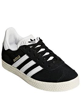 adidas Originals Adidas Originals Gazelle Childrens Trainer - Black/White Picture