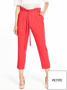 miss-selfridge-petitenbsppaperbagnbspcropped-trouser