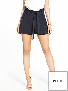 miss-selfridge-petite-paperbag-short