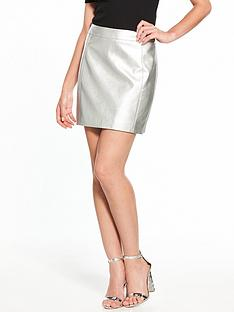 oasis-faux-leather-mini-skirt