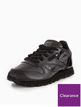 9110a920a53 Reebok Reebok Classic Leather Patent Childrens Trainer