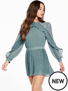 river-island-pleated-detail-playsuit