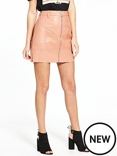 river-island-zip-detail-pu-mini-skirt