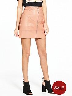 river-island-zip-detail-pu-mini-skirt