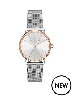 armani-exchange-armani-exchange-lola-silver-and-rose-two-tone-stainless-steel-mesh-bracelet-ladies-watch