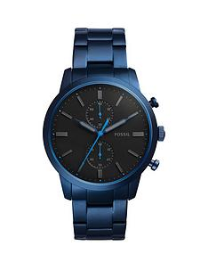 fossil-fossil-townsman-blue-ip-stainless-steel-bracelet-men039s-watch