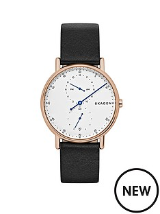 skagen-skagen-signatur-rose-gold-ip-case-black-leather-strap-men039s-watch