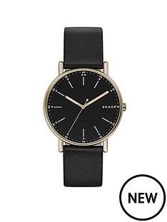 skagen-skagen-signatur-black-leather-strap-men039s-watch