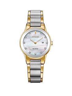 citizen-citizen-eco-drive-axiom-diamond-two-tone-stainless-steel-bracelet-ladies-watch