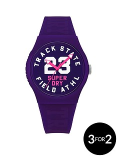 superdry-superdry-track-amp-field-purple-silicone-strap-with-tonal-print-ladies-watch