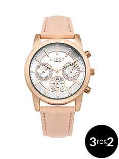 lipsy-nude-leather-look-strap-with-silver-sunraynbspdial-ladies-watch