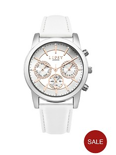 lipsy-white-leather-look-strap-with-silver-sunraynbspdial-ladies-watch