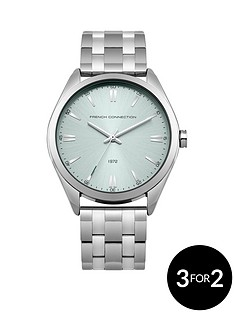 french-connection-french-connection-silver-tone-blue-tone-dial-stainless-steel-bracelet-ladies-watch