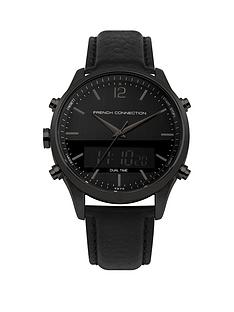 french-connection-blacknbspdigital-and-analogue-leather-strap-mens-watch