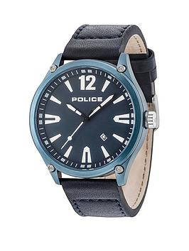 police-leather-strap-with-blue-dial-watch
