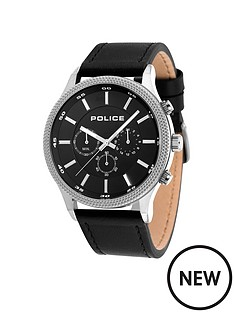 police-police-black-leather-watch-with-black-dial