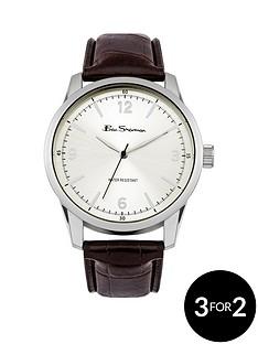 ben-sherman-ben-sherman-silver-dial-brown-strap-mens-watch