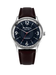 ben-sherman-blue-dial-brown-leather-look-strap-mens-watch