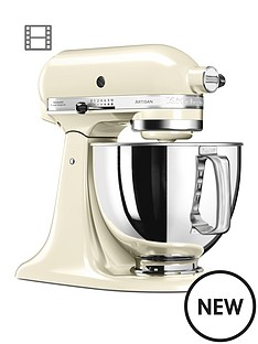 kitchenaid-125-artisan-48l-stand-mixer-almond-cream-ndash-free-pasta-attachment-worth-pound129-for-first-100-orders
