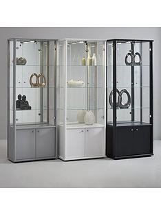 neptune-double-glass-door-mirrored-back-display-unit-with-light-white