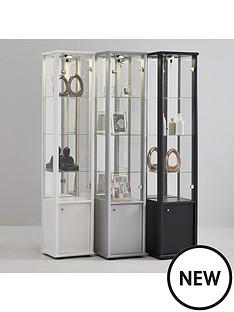 neptune-single-mirrored-display-unit-silver