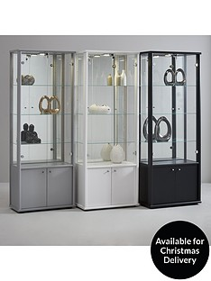 neptune-double-glass-door-mirrored-back-display-unit-with-light-silver