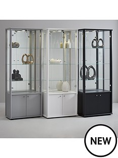 neptune-double-mirrored-display-unit-silver