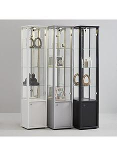 neptune-single-mirrored-display-unit-white