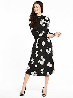 v-by-very-ruffle-back-midi-dress