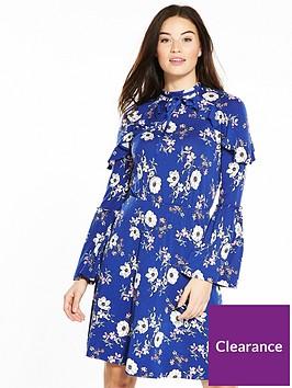 v-by-very-ruffle-detail-high-neck-dress