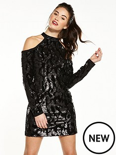 v-by-very-cold-shoulder-sequin-tunic-dress