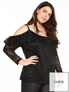 v-by-very-curve-cold-shoulder-lace-top