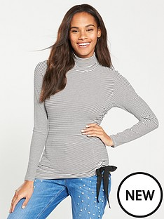v-by-very-roll-neck-drawstring-top-stripe