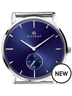 accurist-accurist-men039s-black-sunry-dial-bracelet-watch