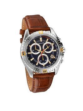 accurist-blue-dial-brown-strap-mensnbspwatch