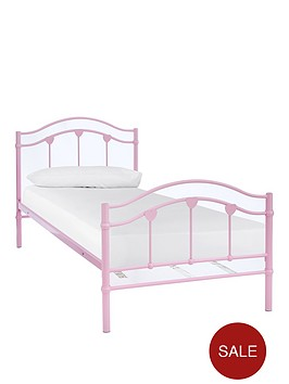 hearts-metal-single-bed-with-optional-mattress-buy-and-save