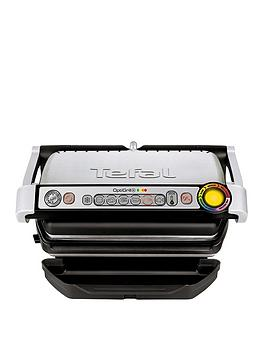 Tefal   Gc713D40 Optigrill+ Grill, 6 Automatic Settings And Cooking Sensor - Stainless Steel